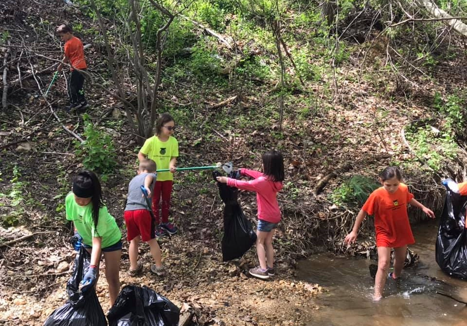 Kids taking action on their Earth Day Clean Up